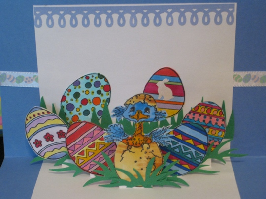 happy easter cards to make. Look how cute this Easter card