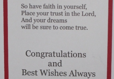 2014 inside confirmation card